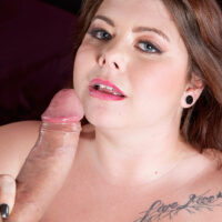 Red-haired fatty Harley Ann is liberated from a short sundress before having sex with a huge cock