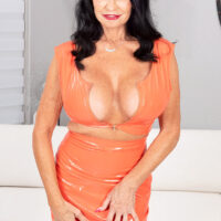 X-rated granny porn star Rita Daniels has her slit and bulls eye played before anal with a guy