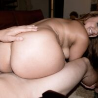 Huge-titted girl Marie Jade has her immense ass freed from cut-offs before doggystyle boinking
